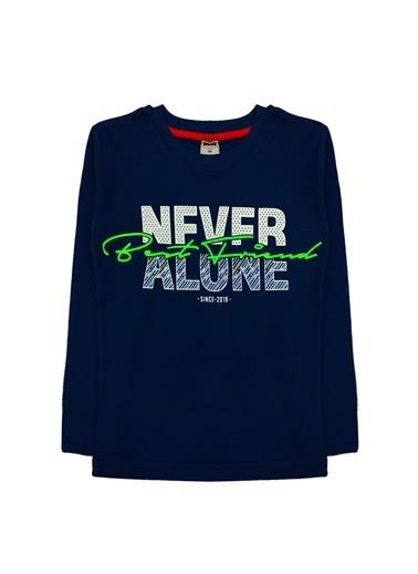 By Leyal For Kids Never Alone Detaylı Sweatshırt Lacivert